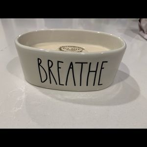 Rae Dunn BREATHE candle